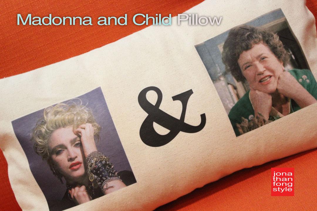 Madonna And Child Pillow Jonathan Fong Style