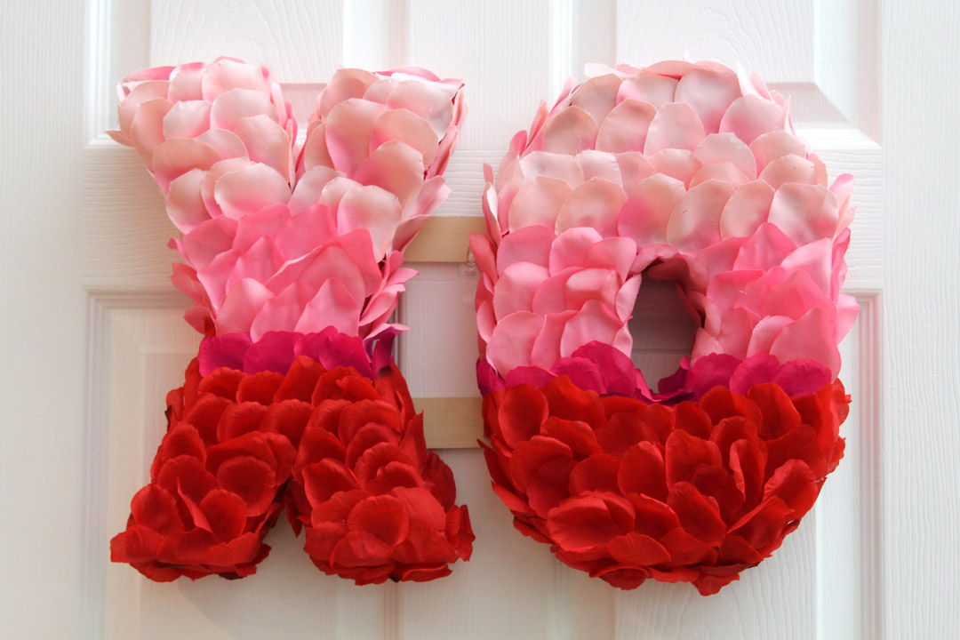 valentine s xo rose petal wreath jonathan fong style